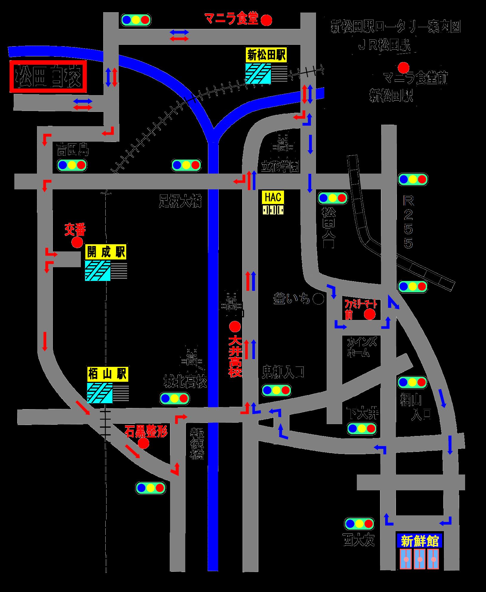 送迎バスルートH29.5月最終版 開成・栢山 透過